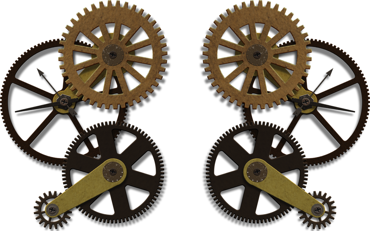Gears png clock work. Steampunk clipart chain sprocket