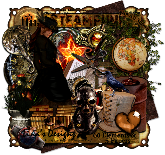 Steampunk clipart christmas. Free scrap kit legit