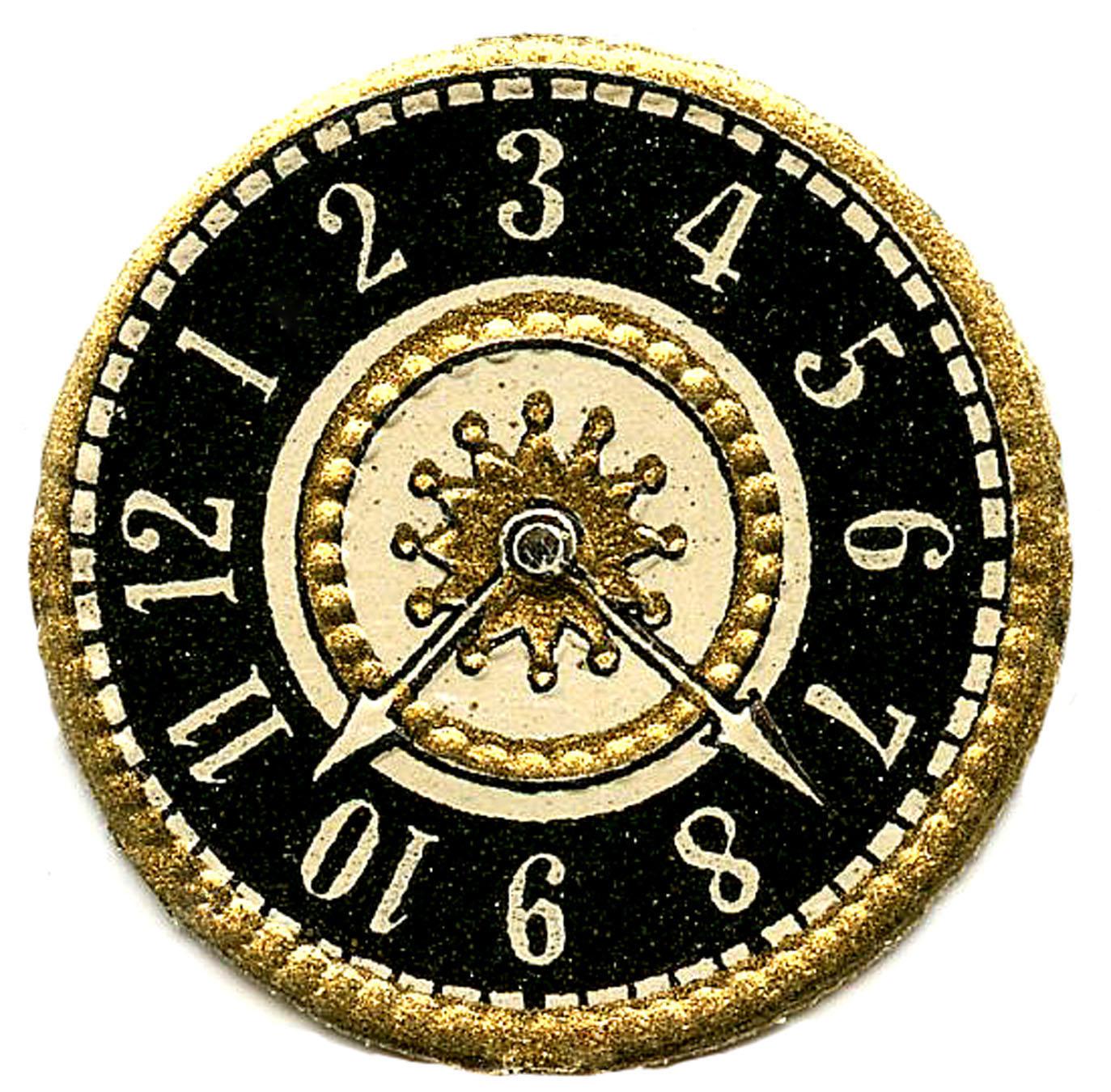 Steampunk clipart classic clock. Vintage clip art scrap