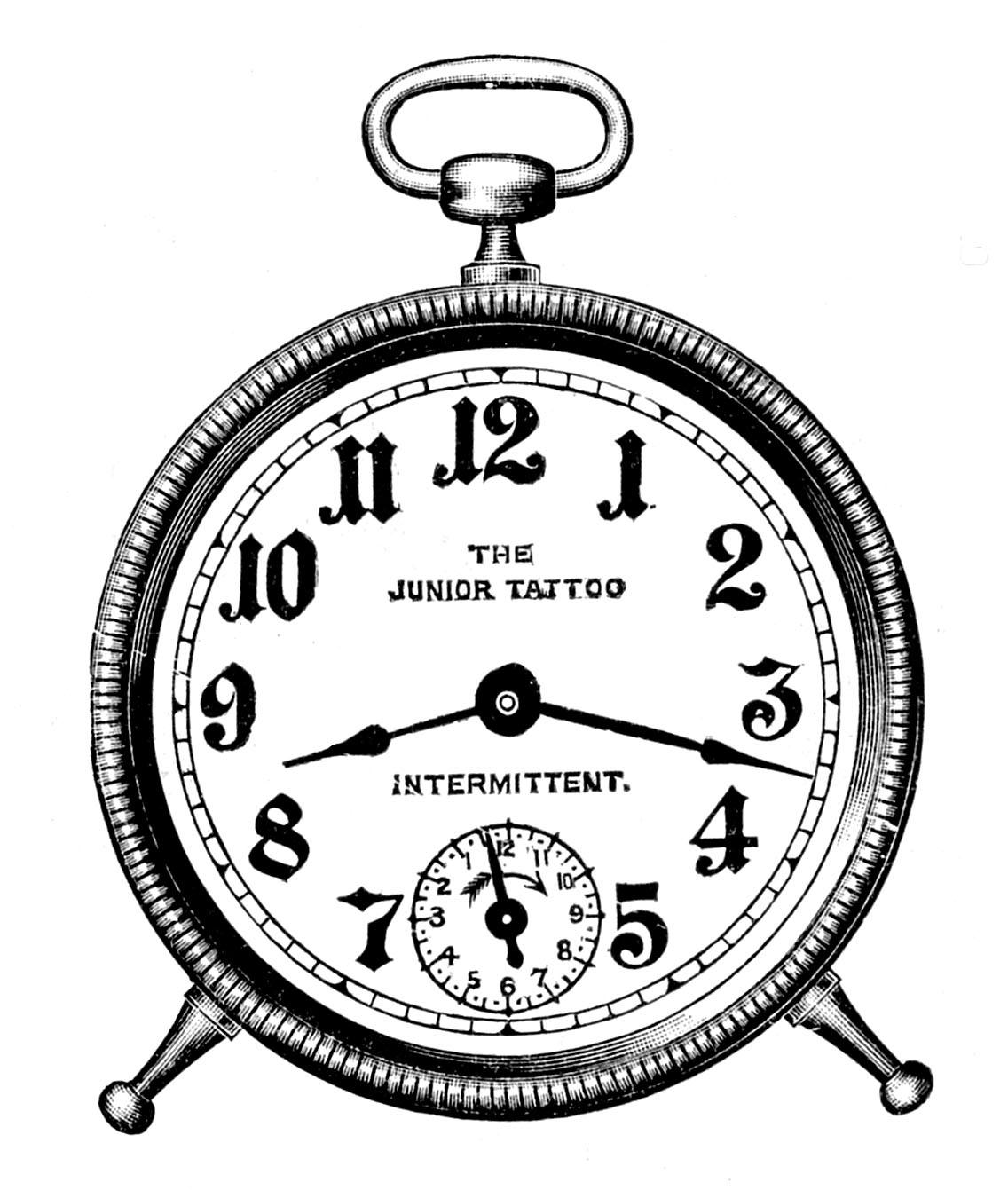 Steampunk clipart classic clock.  graphics vintage alarm
