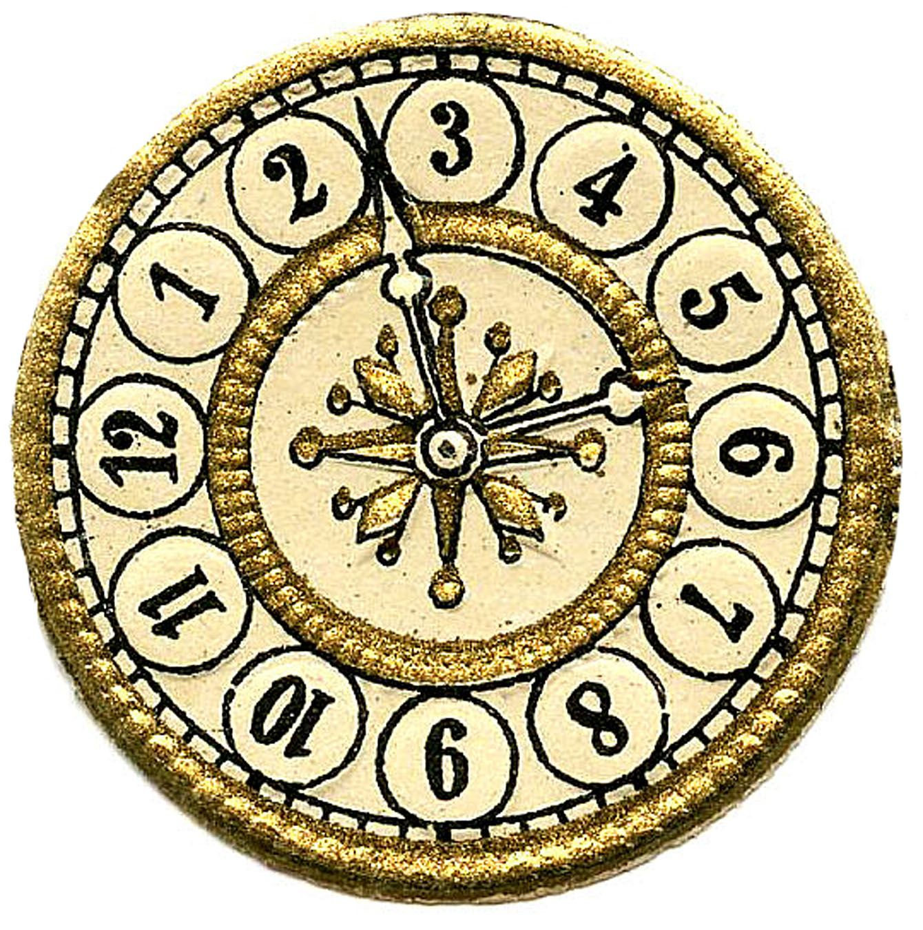 Steampunk clipart clock face.  images print your