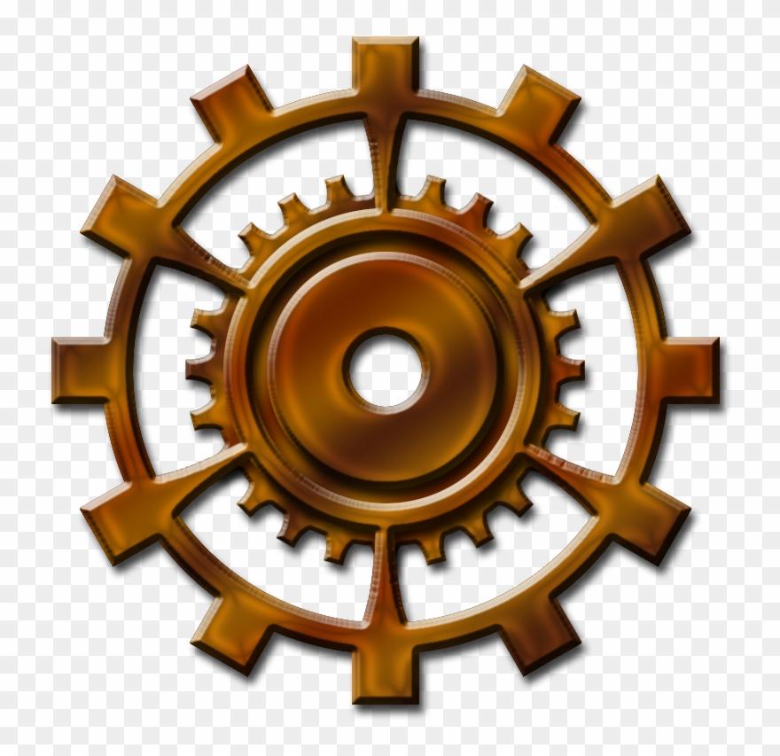 Steampunk clipart cogwheel. Metal gear steam punk