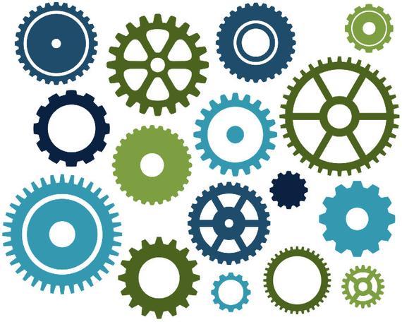 Gears clip art blue. Steampunk clipart cogwheel