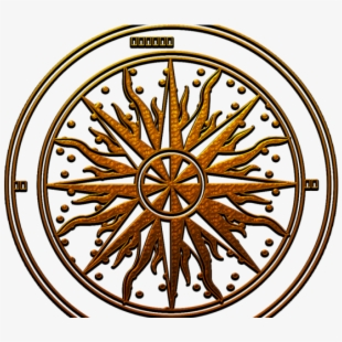 Steampunk clipart compass point. Egyptian rose