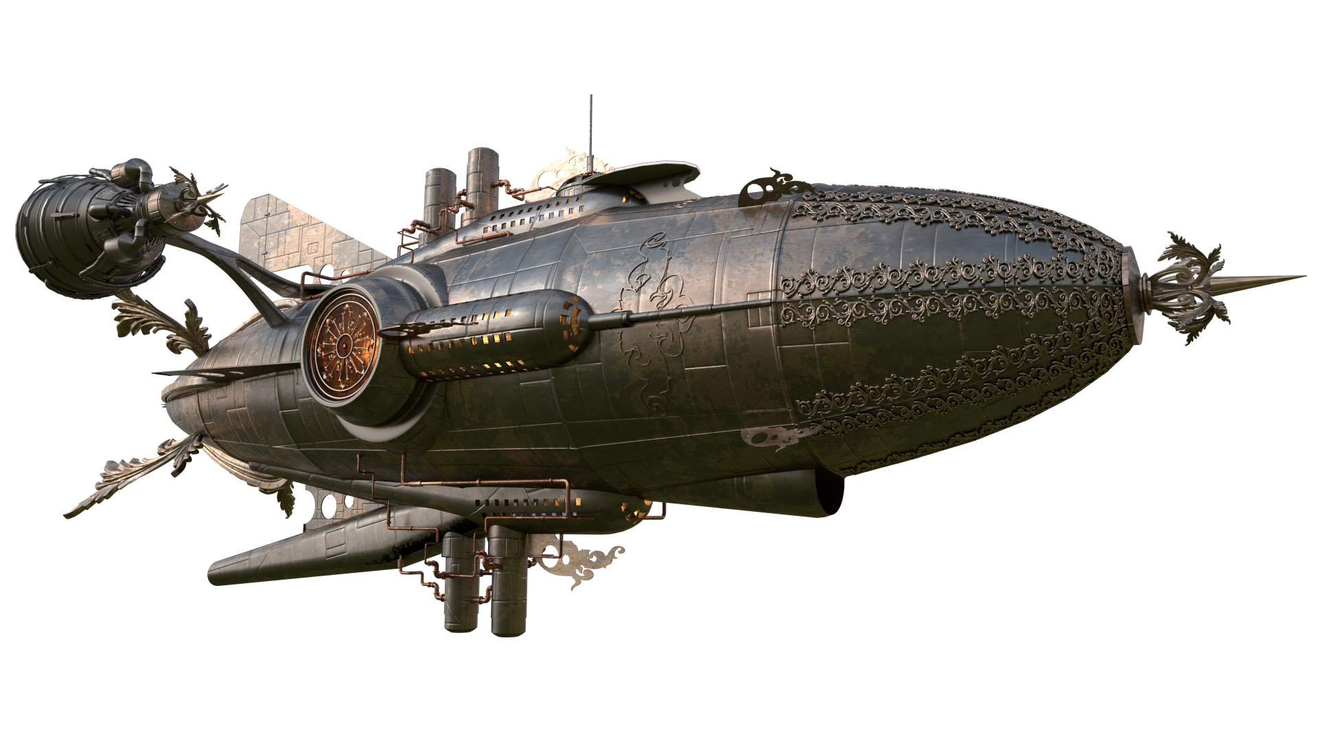 Pin by on ships. Steampunk clipart dirigible