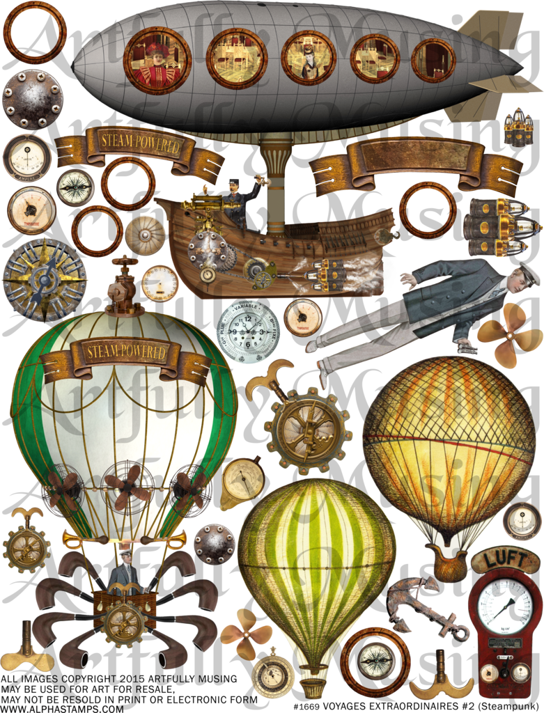 Steampunk clipart dirigible. Artfully musing voyages extraordiniares