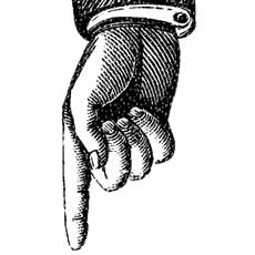 Steampunk clipart finger point.  hand pointing the