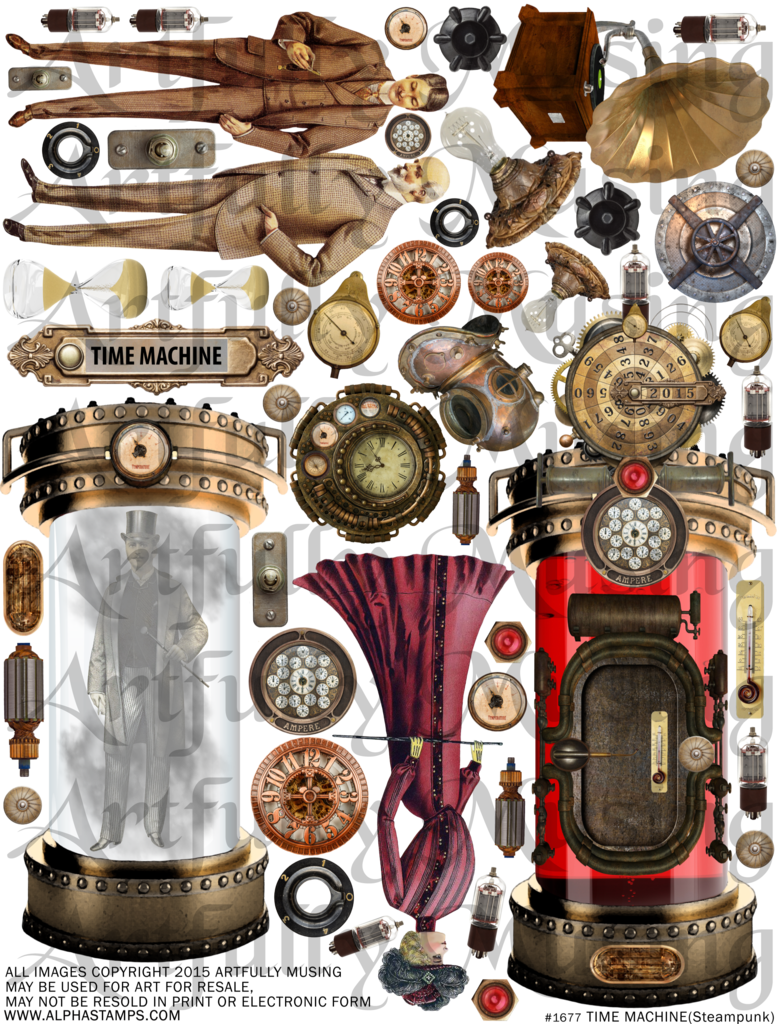 Artfully musing . Steampunk clipart flying machine