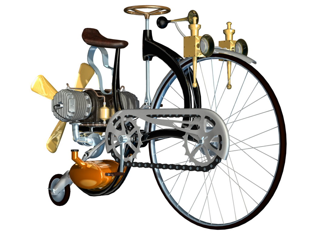 Steampunk clipart flying machine. Bike png stock by