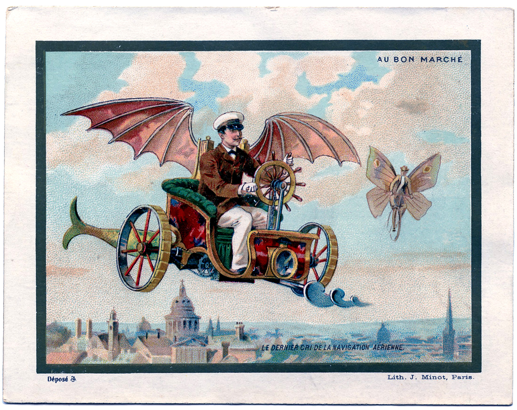Steampunk clipart flying machine. Image the graphics fairy
