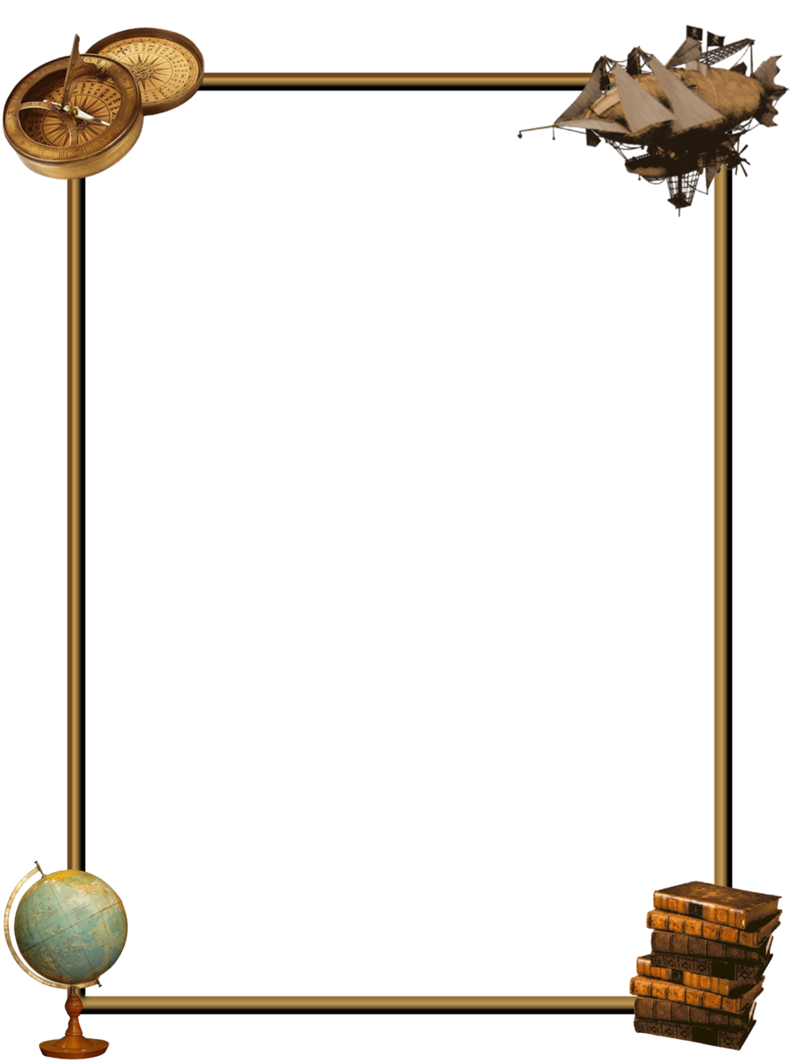 Border by zaubrer on. Steampunk clipart frame