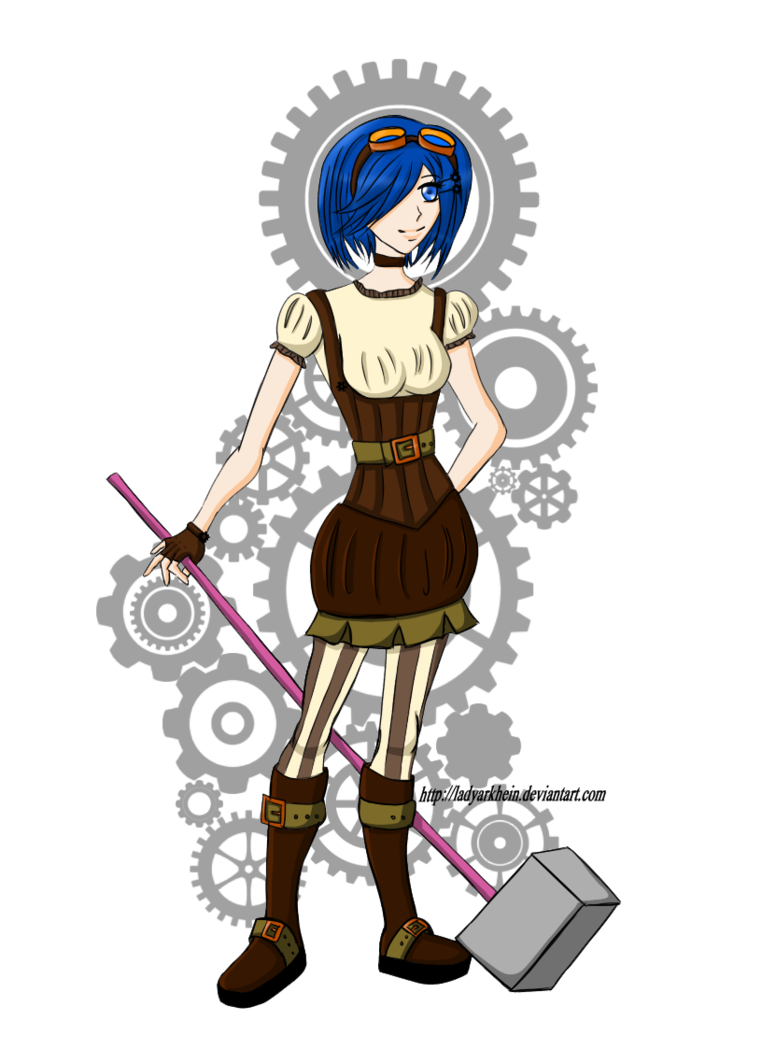 C ramona by ladyarkhein. Steampunk clipart goggle