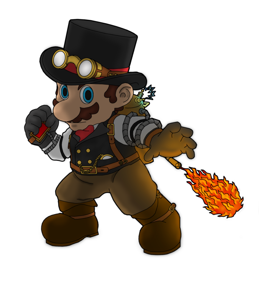 Mario by cyberdalek on. Steampunk clipart invention discovery