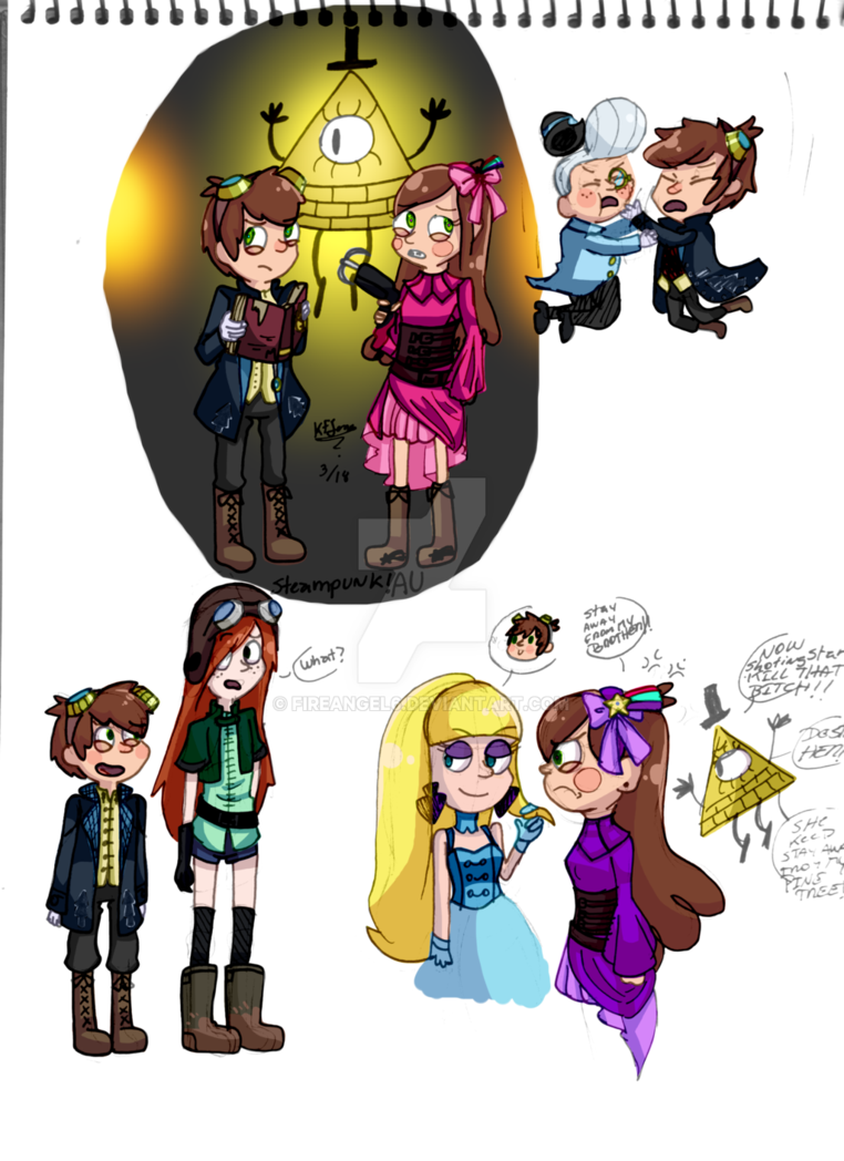 Steampunk clipart invention discovery. Gravity falls au by