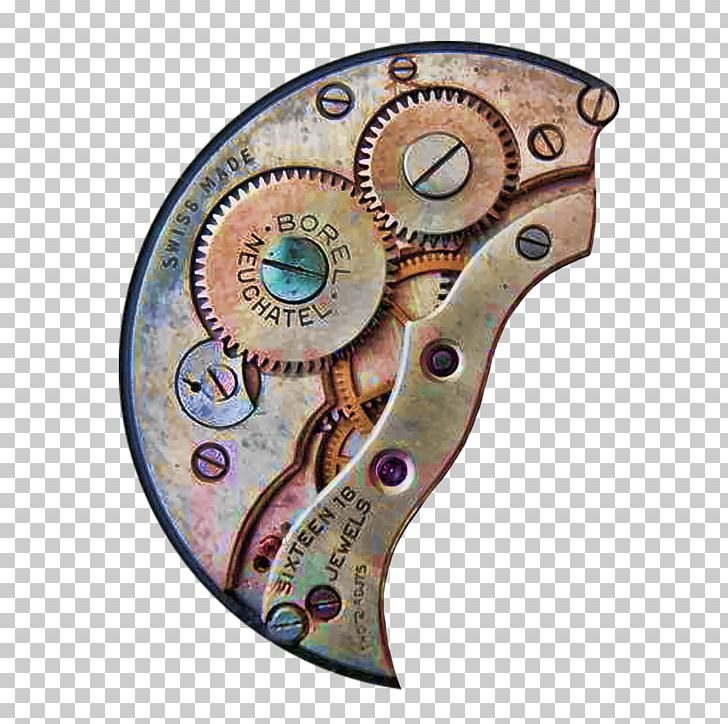 Steampunk clipart large clock. Gear art png blue