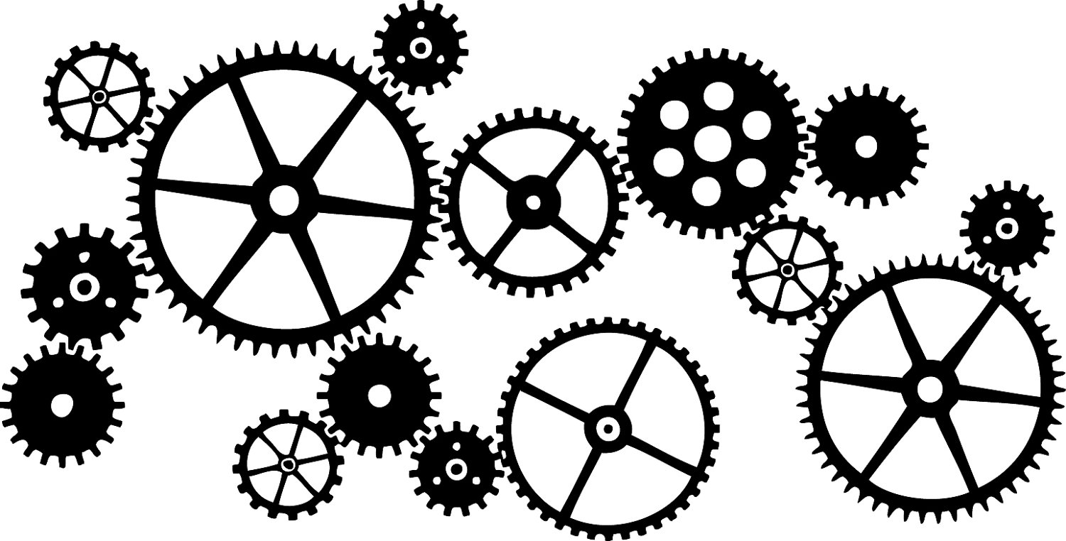 Steampunk clipart many gear. Free cliparts download clip