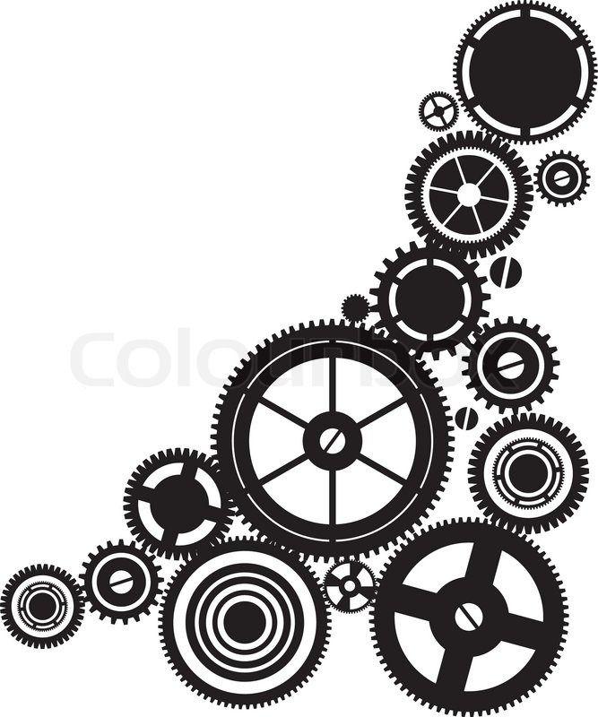 Pin by erin filotei. Steampunk clipart many gear