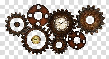 Steampunk clipart mechanical gear. Clocks s brown and