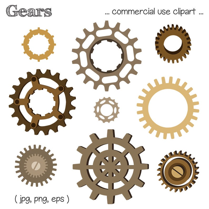 Steampunk clipart metal gear. Clip art machine part