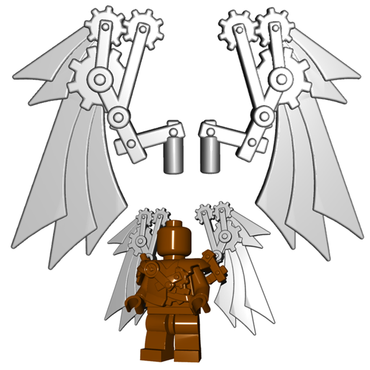 Wings . Steampunk clipart military wing
