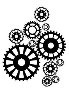 Steampunk clipart motorcycle gear. Nuts bolts gears pictures