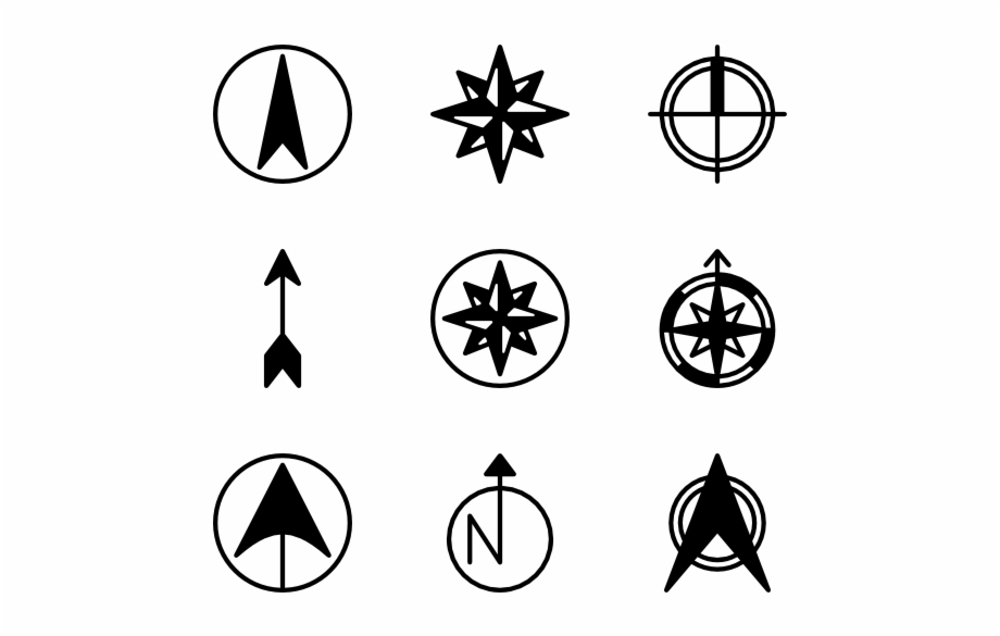 Steampunk clipart north point. Arrow compass rose only