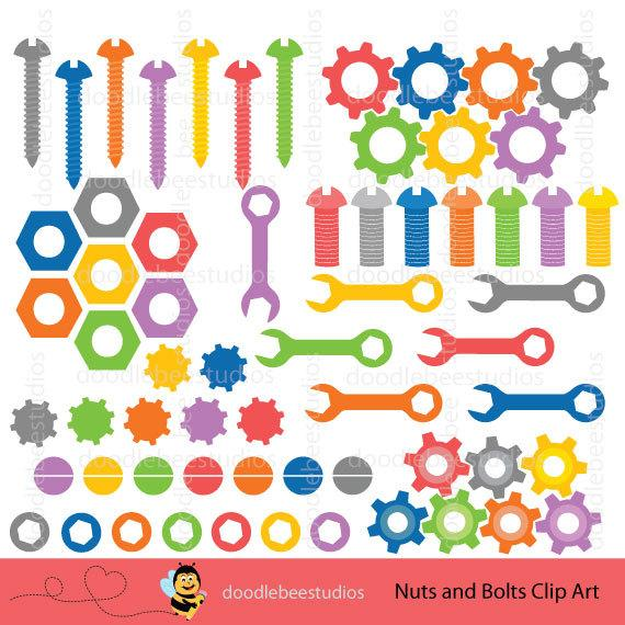 Nuts and bolts clip. Steampunk clipart nut bolt