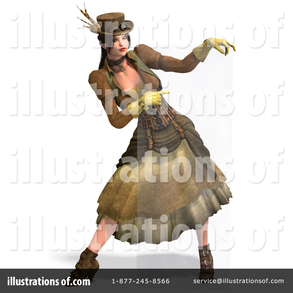 Steampunk clipart person. Illustration by ralf