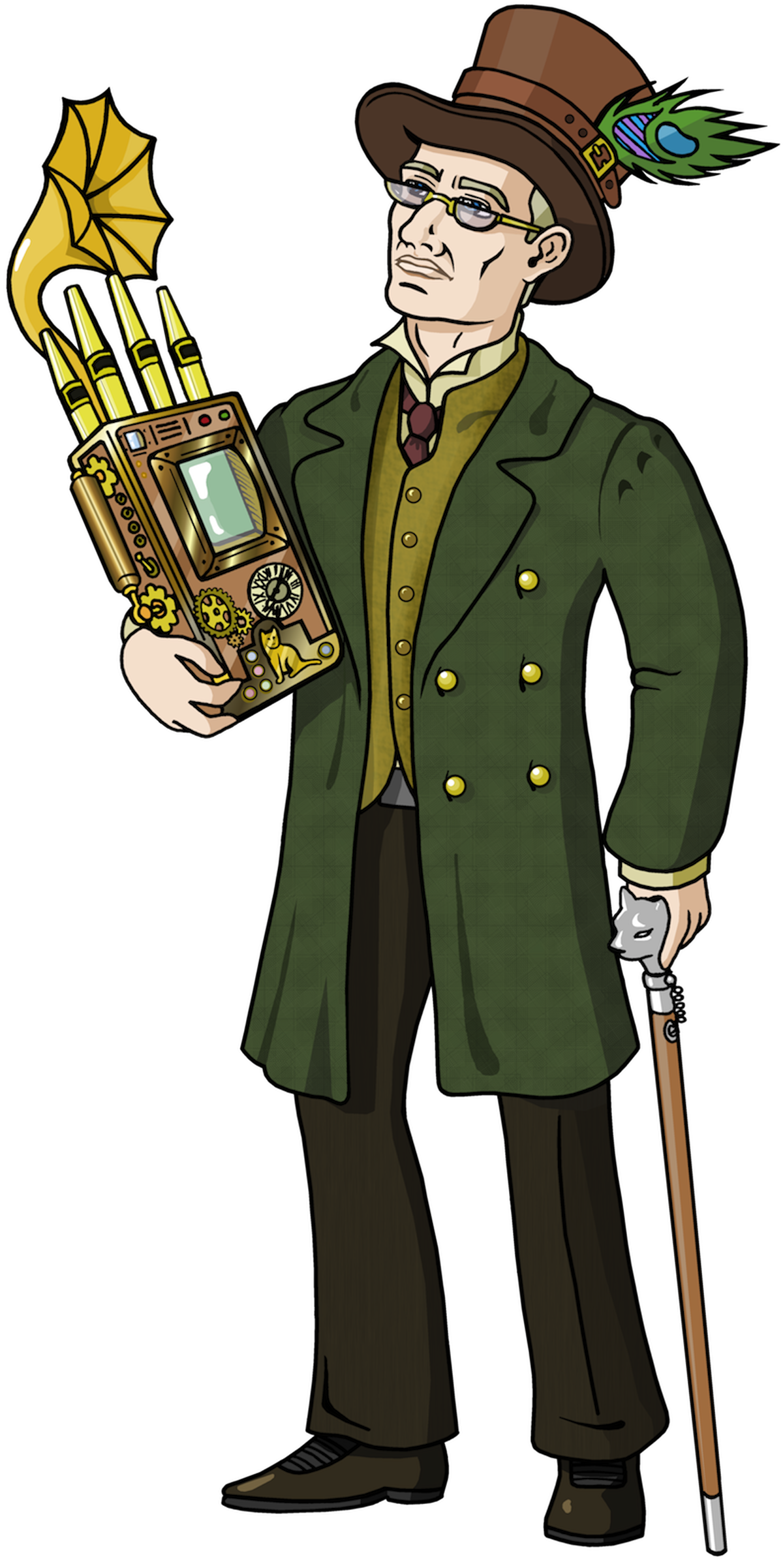 Mark keating gets animated. Steampunk clipart person