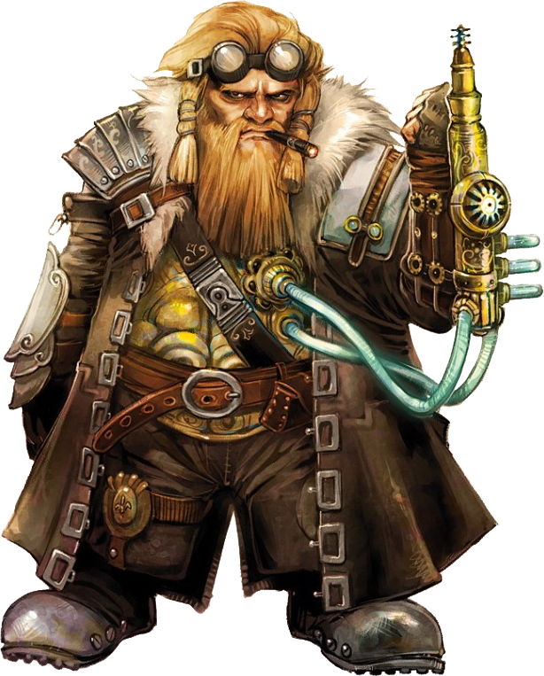 Dwarf png characters and. Steampunk clipart person