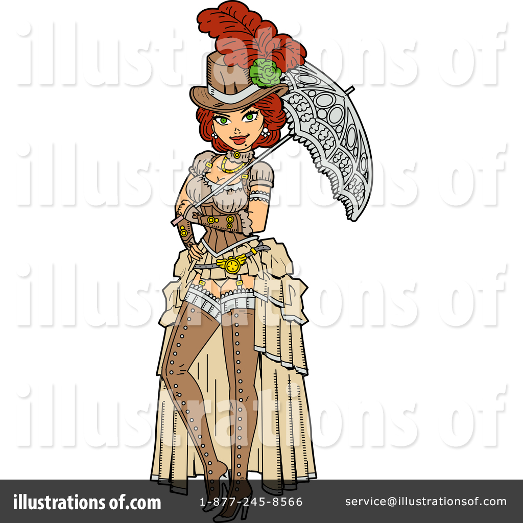 Illustration by clip art. Steampunk clipart person
