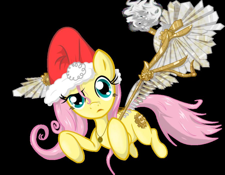 Santa fluttershy by hereticofdune. Steampunk clipart pilot wing