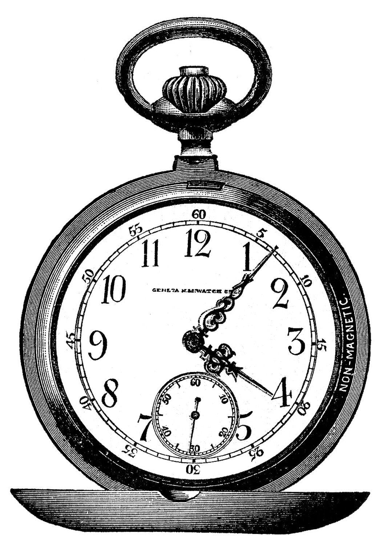 Steampunk clipart pocket watch gear. Vintage clip art marvelous