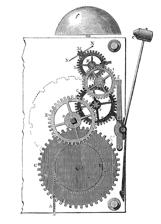 Steampunk clipart public domain.  vintage images gears