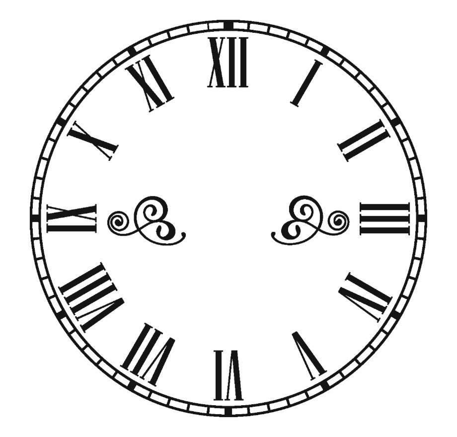 Steampunk clipart retro clock. Roman numeral face