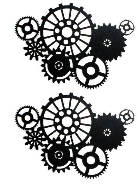 Gear . Steampunk clipart silhouette