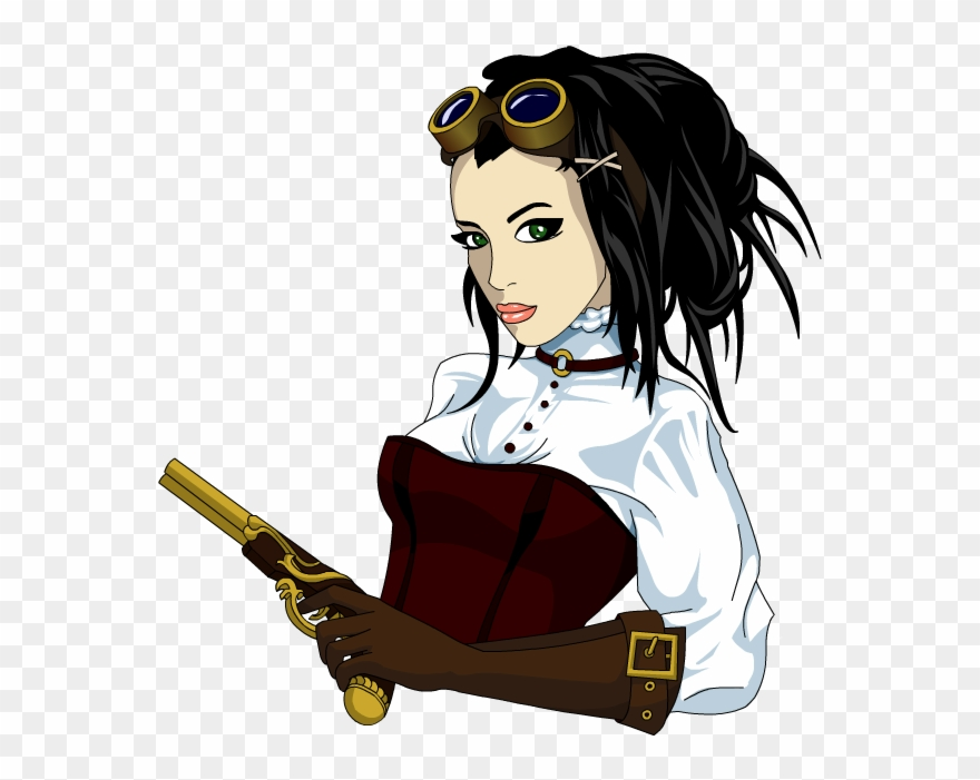 By encho em png. Steampunk clipart steampunk girl