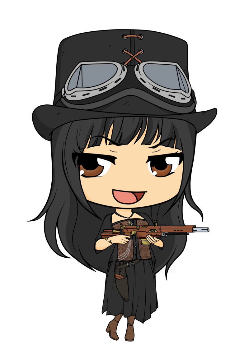 Commission lady by mibu. Steampunk clipart steampunk girl