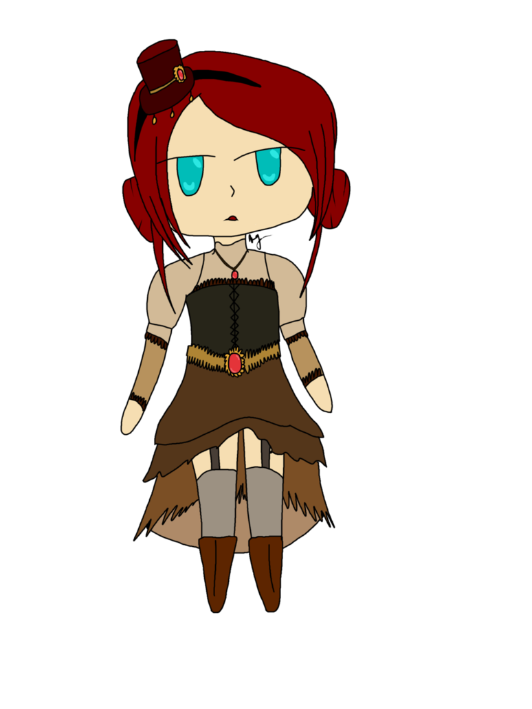 Collab adopt by laculigaminae. Steampunk clipart steampunk girl