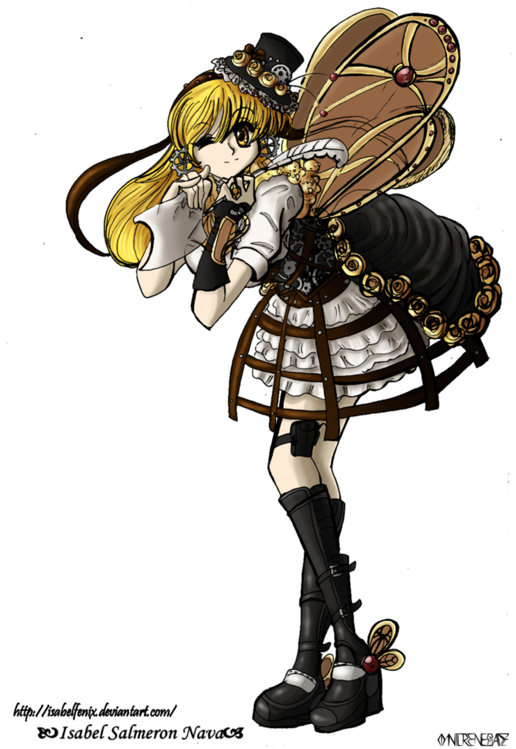 By omnilrenegade on deviantart. Steampunk clipart steampunk girl