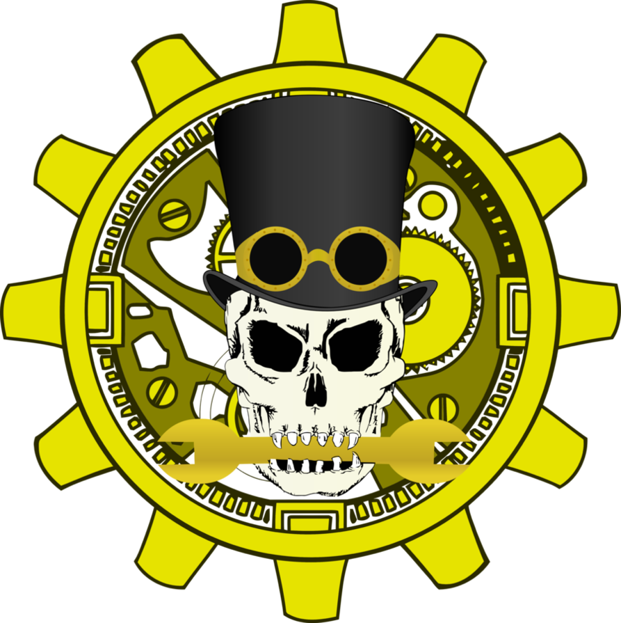 Steampunk clipart vector. Logo by goldenfox on