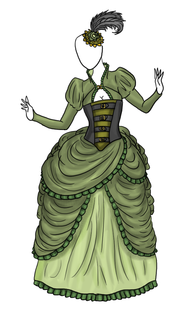 Gown com by captain. Steampunk clipart victorian steampunk