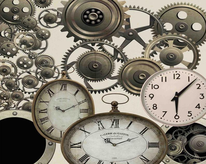 Watch clip art parts. Steampunk clipart vintage clock