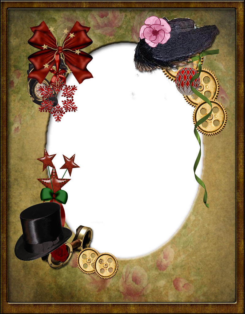 Textures passion christmas victorian. Steampunk frame png