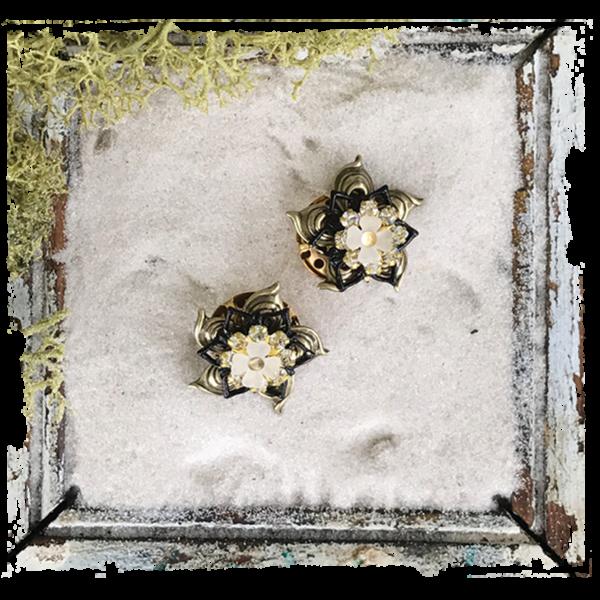 Steampunk frame png. Frida earrings ss metal