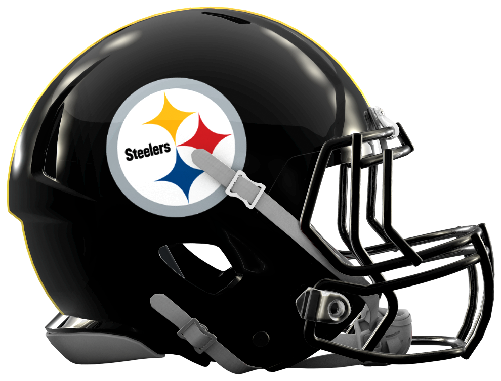 Creating more modern nfl. Steelers helmet png