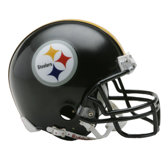 Pittsburgh nfl mini replica. Steelers helmet png