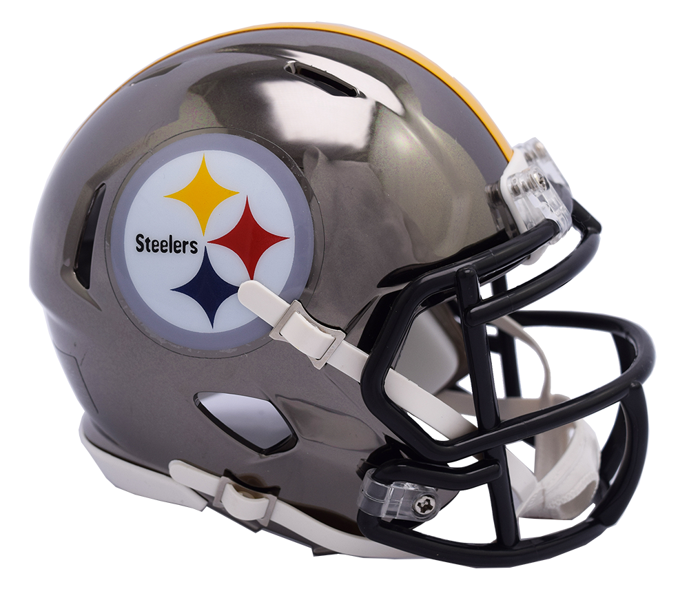 Pittsburgh chrome riddell speed. Steelers helmet png