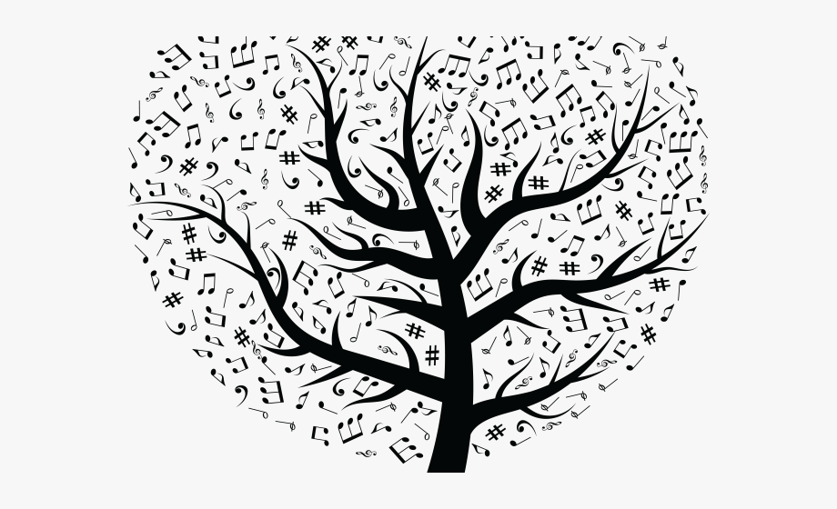 Tree designs on wall. Stick clipart branch