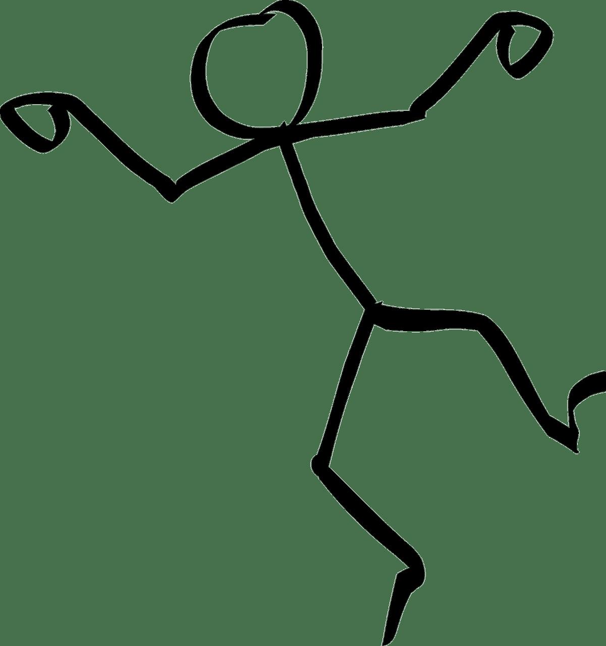 Dancing figure transparent png. Stick clipart coloring